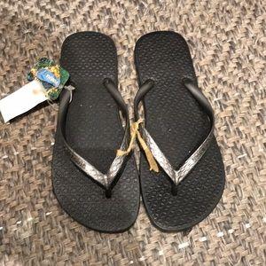 Ipanema Silver Gunmetal Flip Flops